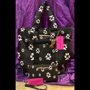 🐾 Betsey Johnson PAWs Padded Tote Bag NWT